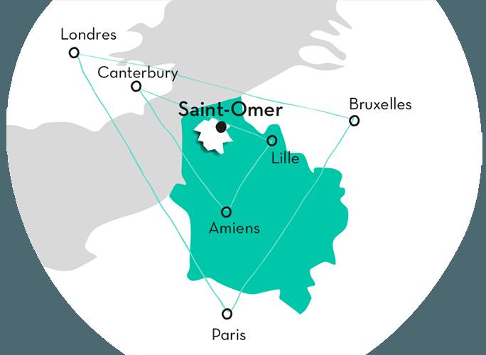 Carte du Pays de Saint-Omer